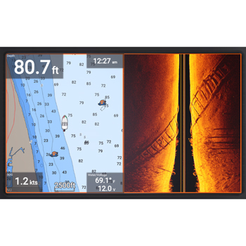 Raymarine Element 12HV with Lighthouse NC2 Charts and HV100 Transducer