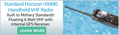 Standard Horizon HX890 Handheld VHF with GPS Blue