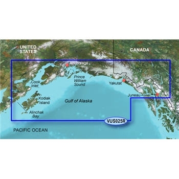 Garmin Bluechart G3 Vision Anchorage to Juneau Chart - VUS025R