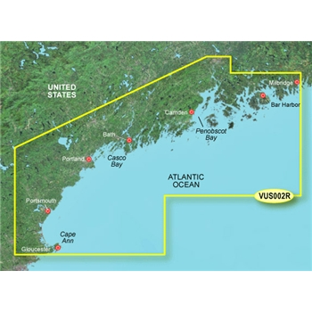 Garmin Bluechart G2 Vision HD South Maine Chart - VUS002R