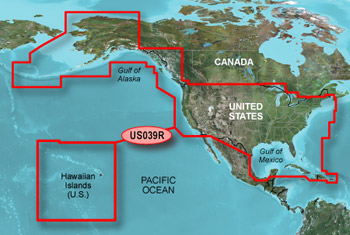 Garmin Bluechart G HD USA W Canada HXUSR - Western us and canada map