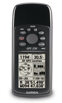 Garmin GPS 72H Handheld GPS P2236 on gps receiver tracking sensitivity