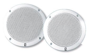 "Poly-Planar MA4055 5"" White Marine Speakers - Set of Two"