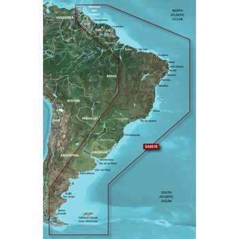 Garmin Bluechart G3 Vision South America East - VSA001R