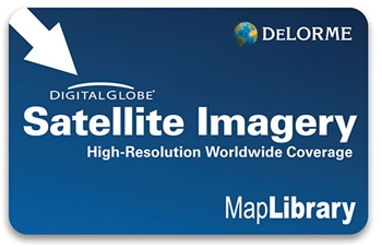 DeLorme Digital Globe Satellite Imagery Subscription Card