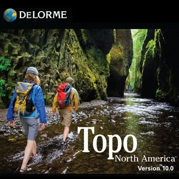 DeLorme Topo 10 North America on DVD