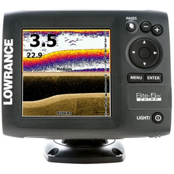 Lowrance Elite 5X CHIRP Fishfinder with 83/200 & 455/800 Transducer