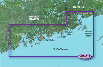 Garmin Bluechart G2 Vision North Maine Chart - VUS001R