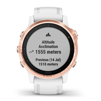 Garmin Fenix 6s Pro Rose Gold with White Band GPS Watch