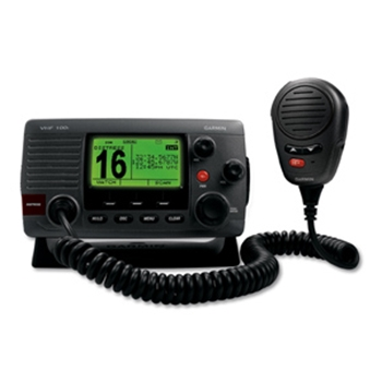Garmin VHF 100 Black Waterproof Fixed Mount VHF Radio