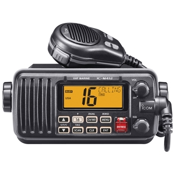 Icom M 412 Fixed Mount Marine VHF - Black