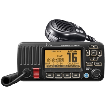 ICOM M424 Fixed Mount Marine VHF - Black