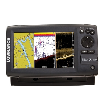 Lowrance Elite 7 HDI Gold with 83/200 & 455/800 HDI Transducer