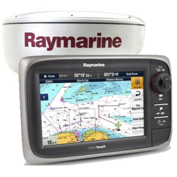 Raymarine e7D GPS/Fishfinder Radar and RCU-3 Bundle