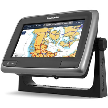 Raymarine a75 GPS with Wi-Fi and Navionics Gold Radar Bundle
