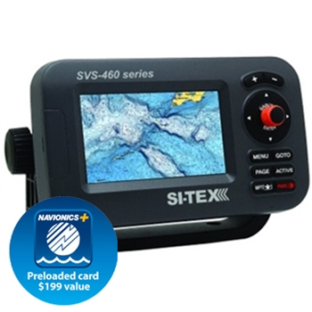 "Si-Tex SVS-460CE 4"" Color ChartPlotter with External Antenna"