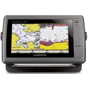 Garmin echoMAP 70s with preloaded Lake Charts and Transducer