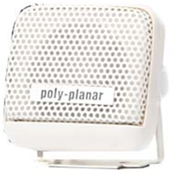 "Poly-Planar MB-21 2"" White Waterproof VHF Speaker"