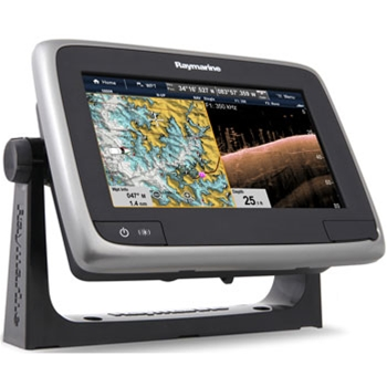 Raymarine a77 GPS/Fishfinder with Wi-Fi & Lighthouse Navigation Charts