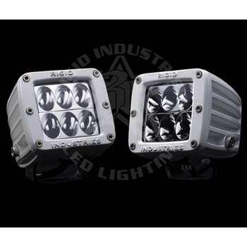 Rigid Industries Dually D2 Marine LED Light with Wide Lens- Pair