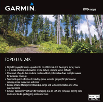 Garmin 24K Topo U.S. South Central DVD