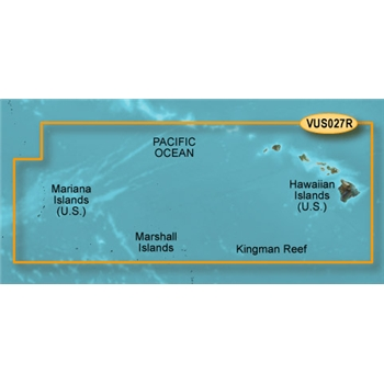 Garmin Bluechart G2 Vision Hawaiian Islands Chart - VUS027R