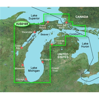 Garmin Bluechart G2 Vision Lake Michigan Chart - VUS016R