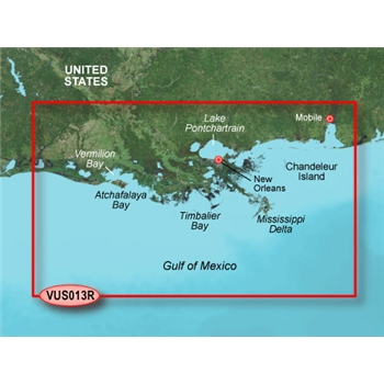 Garmin Bluechart G2 Vision Mobile to Lake Charles Chart - VUS013R