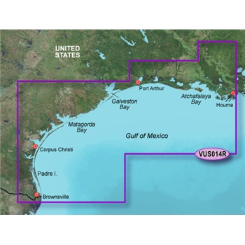 Garmin Bluechart G2 Vision Morgan City to Brownsville Chart - VUS014R