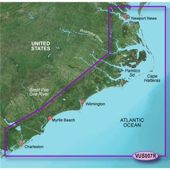 Garmin Bluechart G2 Vision Norfolk to Charleston Chart - VUS007R