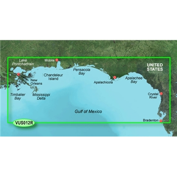 Garmin Bluechart G2 Vision HD Tampa to New Orleans Chart - VUS012R