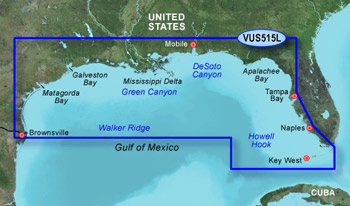 Garmin Bluechart G2 Vision VUS515L Key Largo to Brownsville