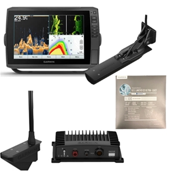 Garmin ECHOMAP Ultra 106sv with GT56UHD Transducer, LiveScope and LakeVu Ultra East Bundle