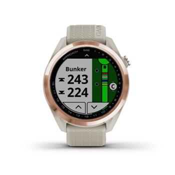 Garmin Approach S42 GPS Golf Watch – Rose Gold with Light Sand Band